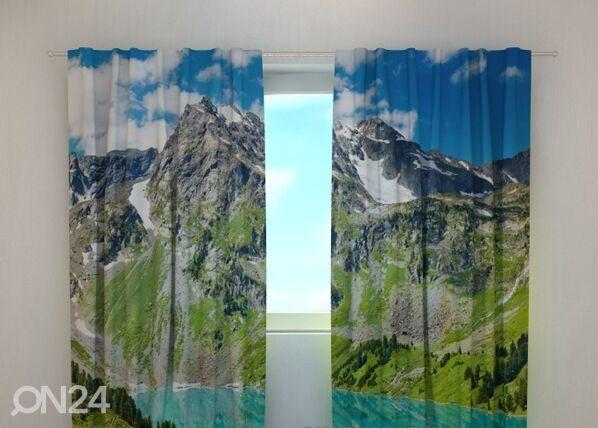 Wellmira Puolipimentävä verho GLAMOROUS MOUNTAINS 240x220 cm