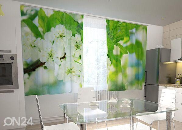 Wellmira Puolipimentävä verho SPRING FLOWERS FOR THE KITCHEN 200x120 cm