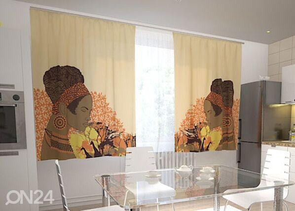 Wellmira Pimennysverho AFRICAN MOTIVES 200x120 cm