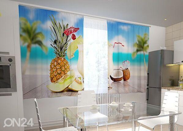 Wellmira Pimennysverho HAWAII IN THE KITCHEN 200x120 cm