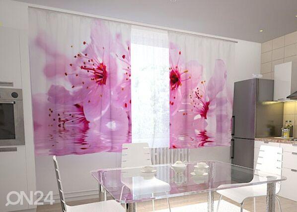 Wellmira Läpinäkyvä verho FLOWERS CHERRY 200x120 cm