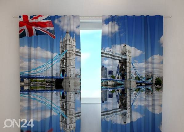 Wellmira Läpinäkyvä verho LONDON BRIDGE 240x220 cm