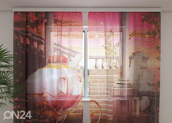 Wellmira Sifonki-kuvaverho CARRIAGE FOR A PRINCESS 240x220 cm