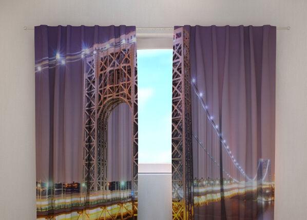 Wellmira Puolipimentävä verho G.WASHINGTON BRIDGE 240x220 cm