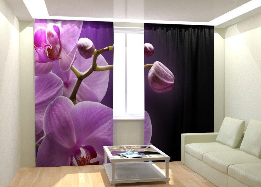 AT-Kodutekstiil Kuvaverhot ORCHID IN THE NIGHT 300x260 cm