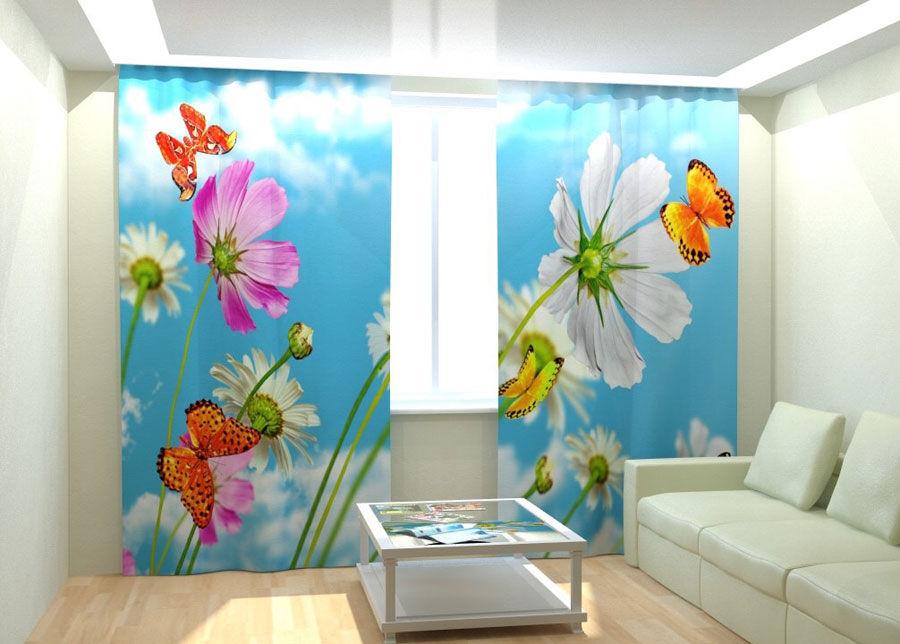 AT-Kodutekstiil Kuvaverhot MORNING BUTTERFLIES 300x260 cm