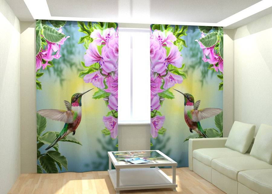 AT-Kodutekstiil Kuvaverhot HUMMING BIRD 300x260 cm