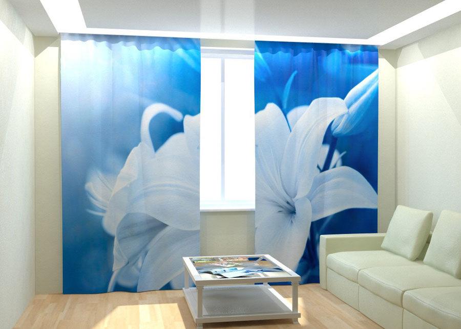 AT-Kodutekstiil Kuvaverhot WHITE LILY 300x260 cm