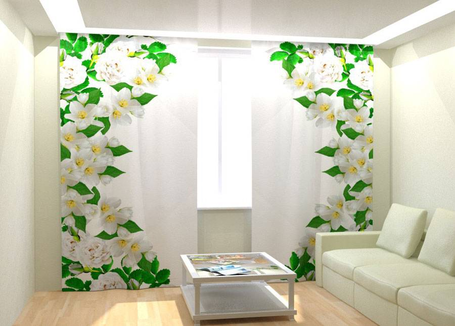 AT-Kodutekstiil Kuvaverhot A WILD ROSE WINDOW 300x260 cm