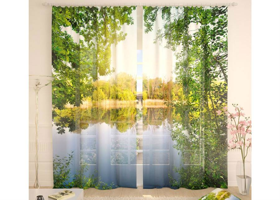 AT-Kodutekstiil Tylliverhot A QUIET RIVER 290x260 cm