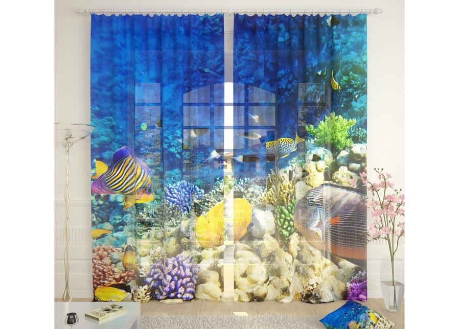 AT-Kodutekstiil Tylliverhot SEA WORLD 290x260 cm