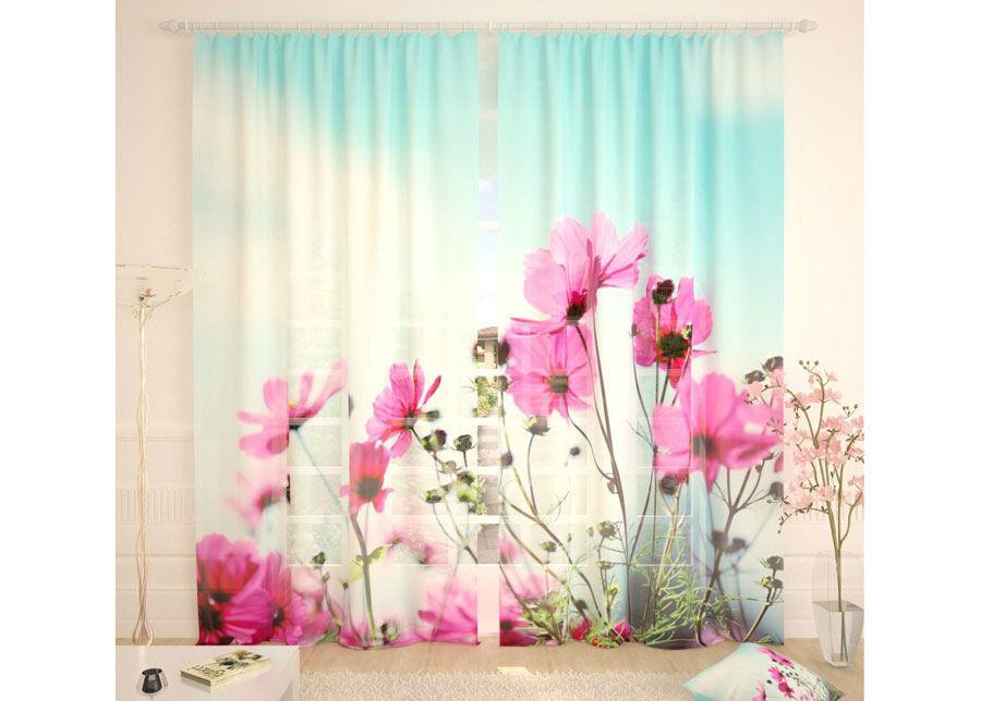 AT-Kodutekstiil Tylliverhot MORNING FLOWERS 290x260 cm
