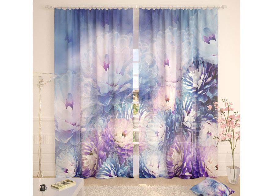 AT-Kodutekstiil Tylliverhot TENDER BLUE FLOWER 290x260 cm