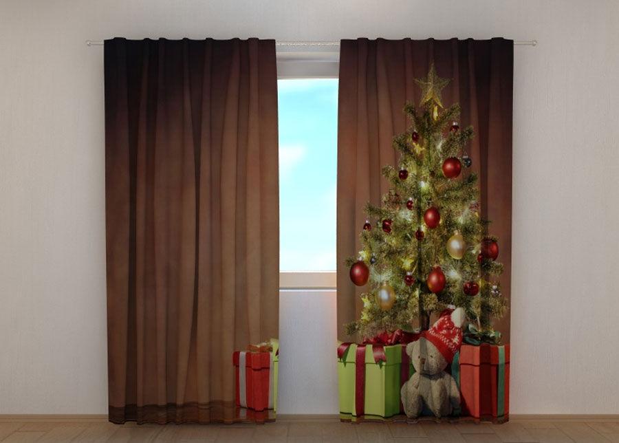 Wellmira Puolipimentävä verho Christmas Surprise 2 240x220 cm