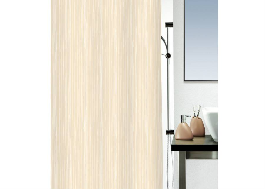 SPIRELLA Kangas-suihkuverho RAYA, beige 180x200 cm