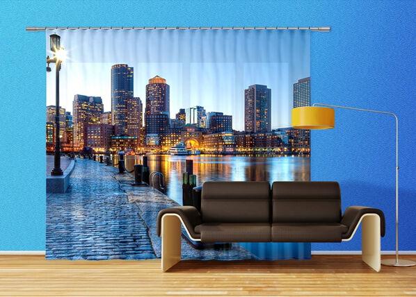 AG Design Pimentävä fotoverho BROOKLYN 280x245 cm