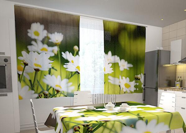Image of Wellmira Puolipimentävä verho MORNING IN CAMOMILES 200x120 cm