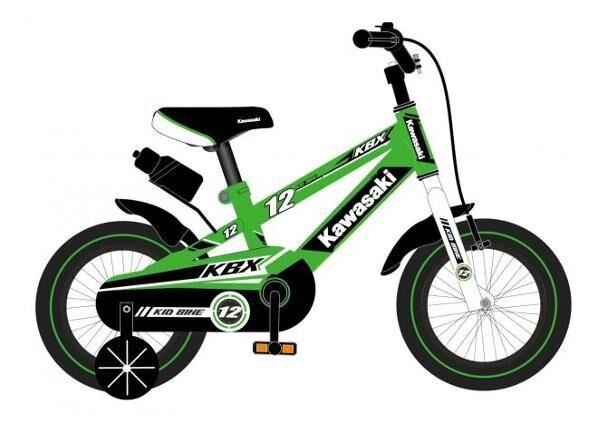 Kawasaki Lasten polkupyörä Kawasaki 12 tuumaa