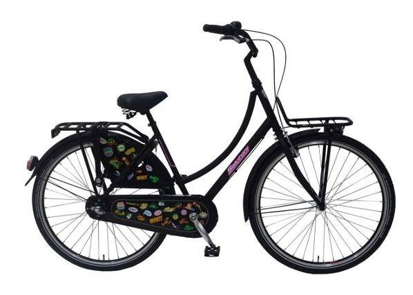 Salutoni Naisten kaupunkipolkupyörä SALUTONI Badges 28 tuumaa 56 cm Shimano Nexus 3 vaihdetta