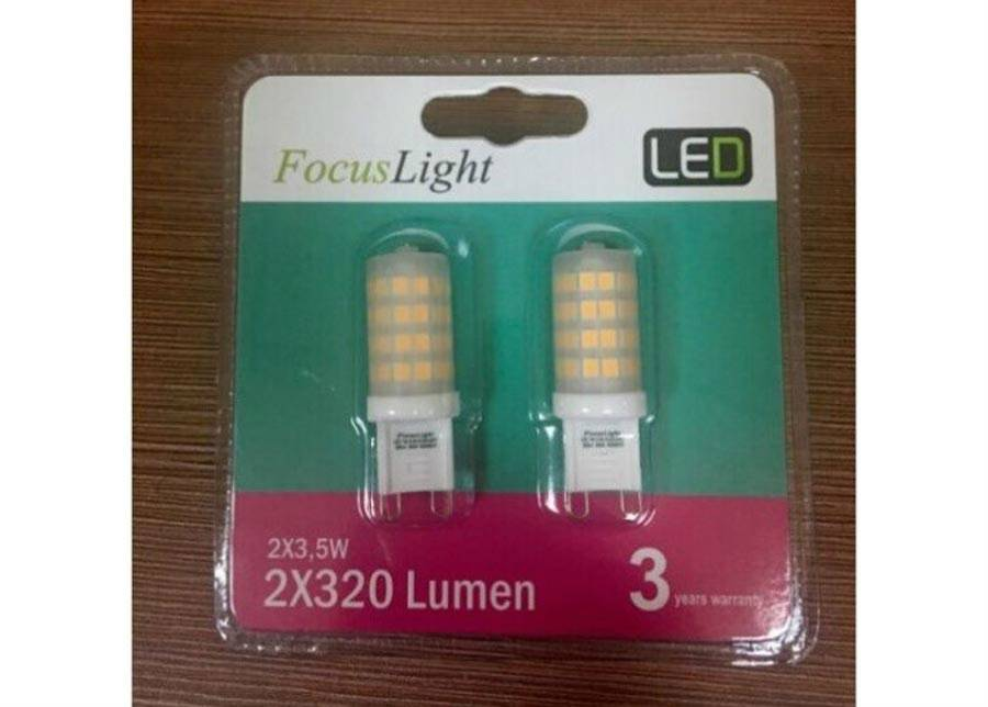 FOCUS LIGHT LED lamppu G9 3,5 W 2 kpl