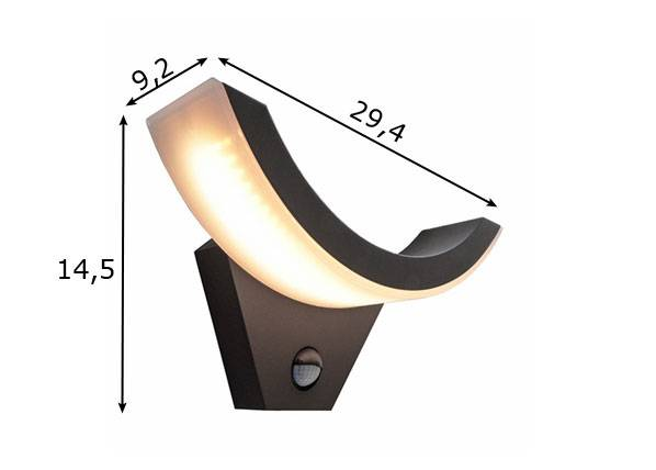 Deko-Light Seinävalaisin liikeanturilla OLIV LED