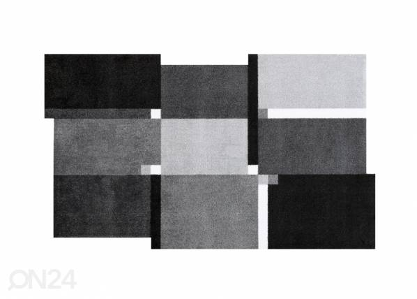 Image of Kleen-Tex Matto LIVING SQUARES BLACK 110x175 cm
