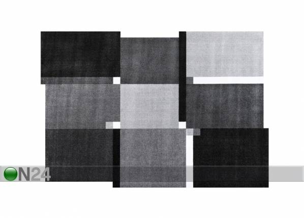 Image of Kleen-Tex Matto LIVING SQUARES BLACK 140x200 cm