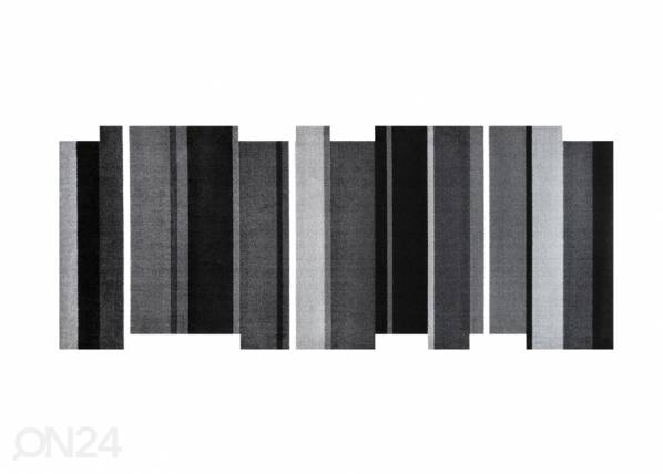 Image of Kleen-Tex Matto DANCING STEPS BLACK 80x200 cm