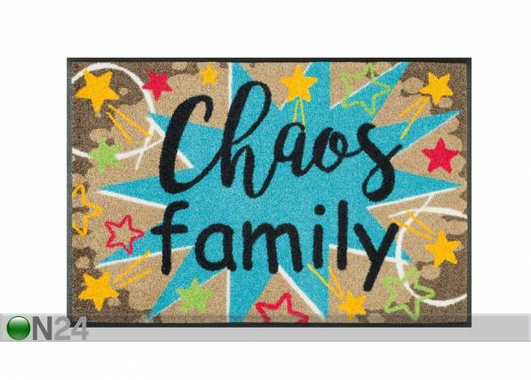 Image of Kleen-Tex Matto CHAOS FAMILY 50x75 cm