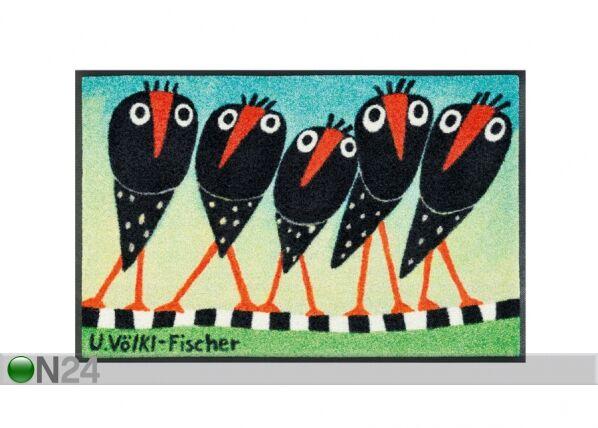 Image of Kleen-Tex Matto SCHRÄGE VÖGEL 50x75 cm