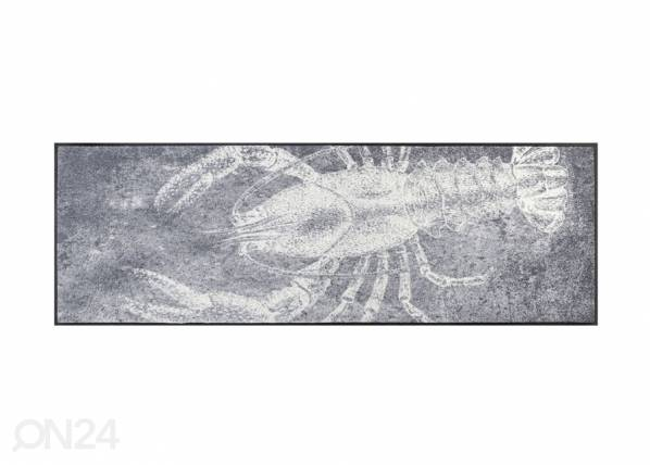 Image of Kleen-Tex Matto Grey Lobster 60x180 cm