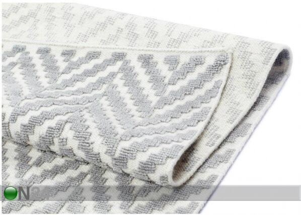 Image of newWeave Narma käsinkudottu villamatto Kuusamo white-grey 140x200 cm
