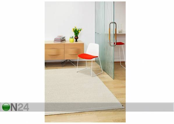Image of newWeave Narma käsinkudottu villamatto Nummela linen 140x200 cm