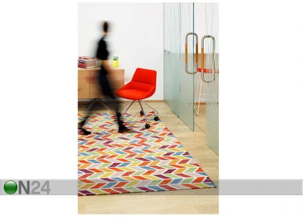 Image of newWeave Narma käsinkudottu villamatto Talsi multi 140x200 cm