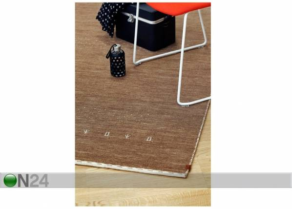 Image of newWeave Narma käsinkudottu villamatto Tornio brown 160x230 cm