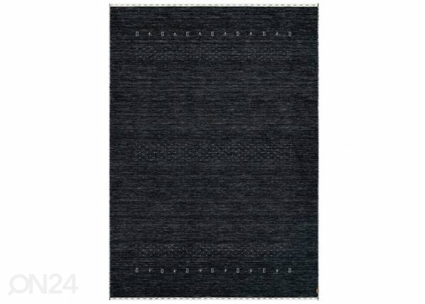 Image of newWeave Narma käsinkudottu villamatto Tornio charcoal 140x200 cm