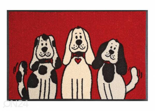 Image of Kleen-Tex Matto THREE DOGS 50x75 cm