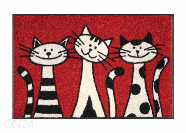Image of Kleen-Tex Matto THREE CATS 50x75 cm