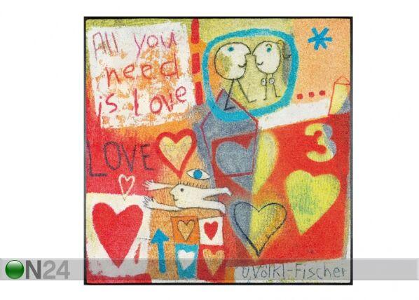 Image of Kleen-Tex Matto LOVE 115x115 cm