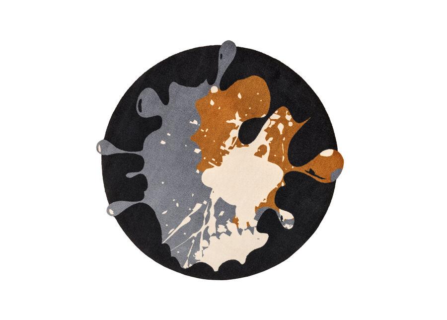 Image of Kleen-Tex Matto CIRCLE BLOB BLACK Ø150 cm