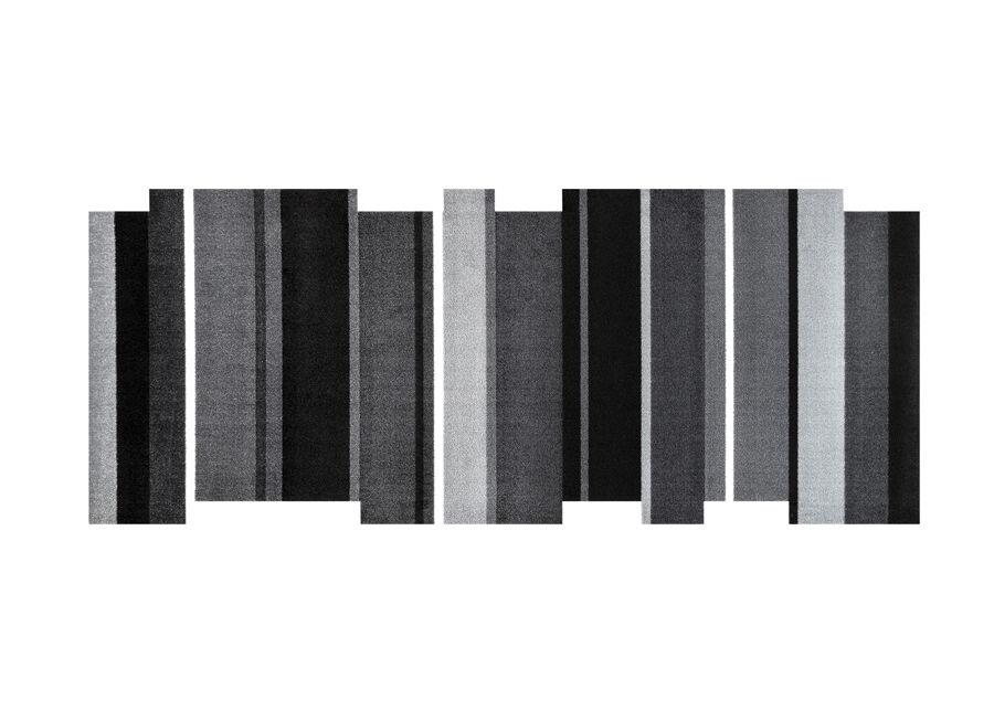 Image of Kleen-Tex Matto DANCING STEPS BLACK 80x200 cm