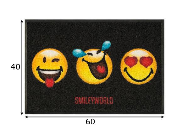 Image of Kleen-Tex Matto SMILEY 3 FACES 40x60 cm