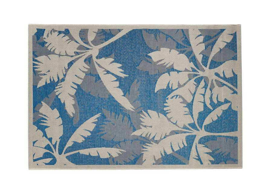 Image of FL Matto Palms Blue 160x230 cm