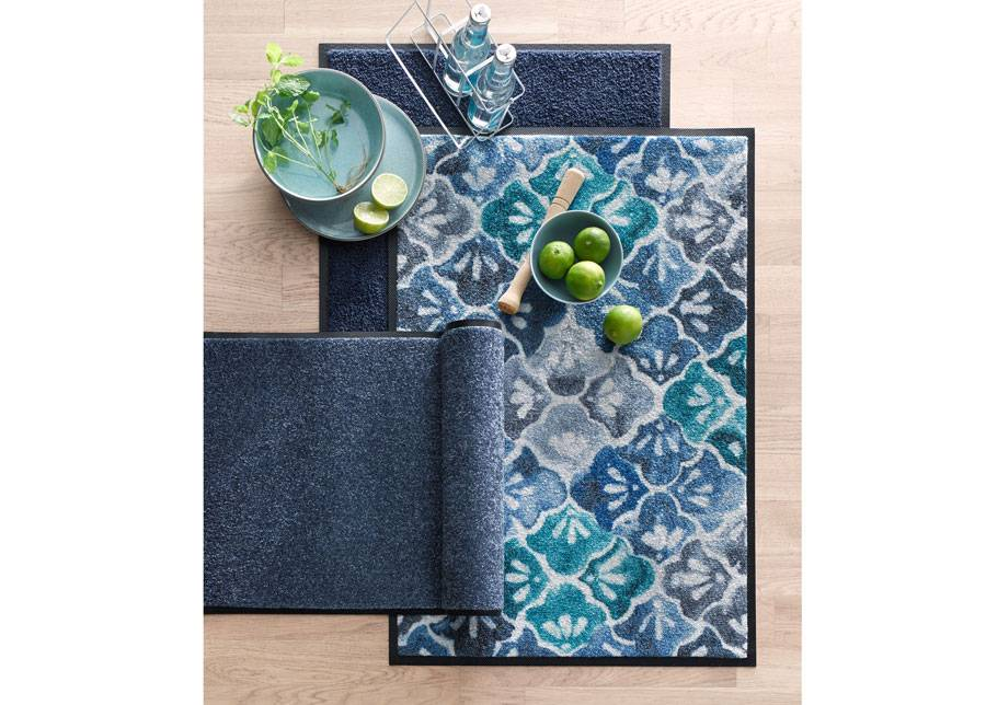Image of Kleen-Tex Matto Blue Ground 50x75 cm