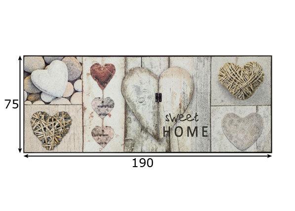 Image of Kleen-Tex Matto Vintage Hearts 75x190 cm