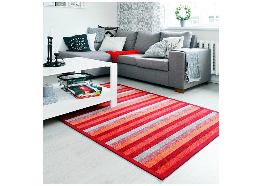newWeave Narma smartWeave® matto Treski red 140x200 cm