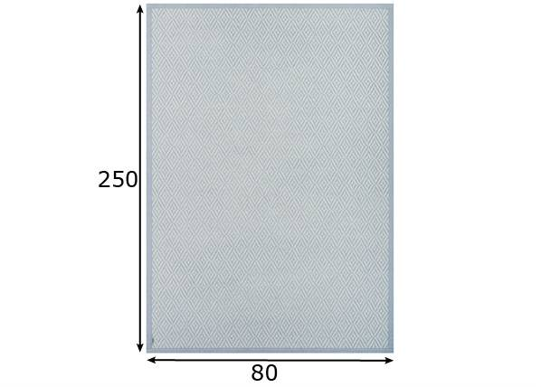 newWeave Narma smartWeave® matto PÜHA silver 80x250 cm