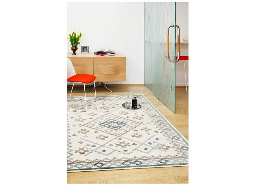 Image of newWeave Narma käsinkudottu villamatto Palanga grey-beige 160x230 cm