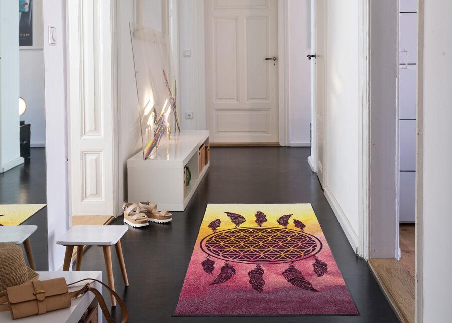 Image of Salonloewe Matto Dreamcatcher pink 75x190 cm
