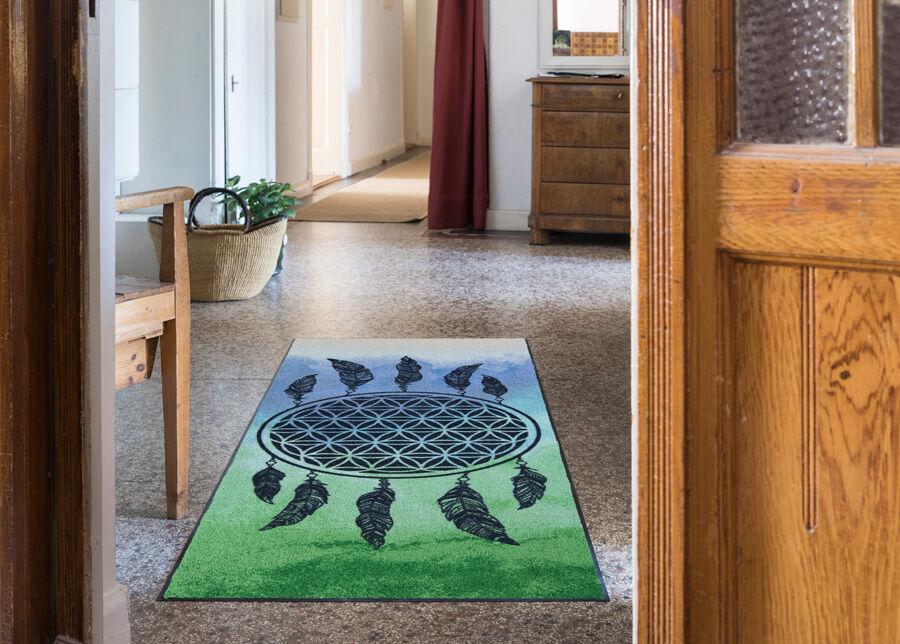 Image of Salonloewe Matto Dreamcatcher green 75x190 cm